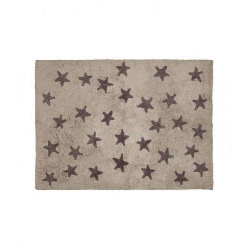 """ALF. C-L-SG Estrellas """"Messy"""" Lino-Gris Oscuro"""